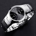 HK DOM Роскошные Top Brand мужские Часы стали вольфрама Наручные Часы 200 м водонепроницаемый Бизнес Кварцевые часы Моды Случайные спортивные Часы