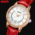 Новая Мода Роскошный Бренд HK DOM Женщины Часы 50 М Водонепроницаемые Часы Алмазный Женские Часы Повседневная Кварцевые Часы Relógio