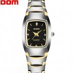 Высокое Качество Вольфрама Стали часы Женщины Дамы Модные Платья Кварцевые Наручные Часы DOM бренд роскошные Часы relojes mujer часы