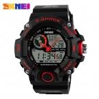 Skmei 1029 мужчины спортивные часы водонепроницаемые мода свободного покроя кварцевые часы цифровой человек аналоговых военная многофункциональные наручные часы