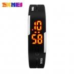 спортивный браслет из светодиодов  спортивные часы мода цифровые часы дата время женщины наручные часы водонепроницаемый красочный резинкой