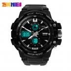 S анти-шок мода часы мужские спортивные часы Skmei 2 часовой пояс цифровой кварц электронные из светодиодов погружения военные наручные часы