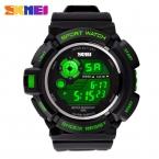 Повседневные, многофункциональные электронные, спортивные мужские наручные часы SKMEI в военном стиле, со светодиодным дисплеем, водонепроницаемые до 50 м.