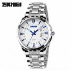 SKMEI люксовый бренд черный люди вахты свободного покроя мужской кварцевый бизнес часы спорта водонепроницаемый военная нержавеющей стали часы