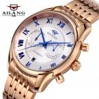 AILANG Бренд мужской Мода Повседневная Бизнес Наручные Часы Мужчины Из Нержавеющей стали Автоматические механические Часы reloj hombre