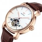 Reloj Hombre AILANG Бренд Моды Случайные Бизнес Часы Мужчины Водонепроницаемый Кожаный ремешок Tourbillon механические Мужские Часы Часы человек