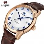 Ailang марка мода деловых людей наручные часы дата кожаный ремешок водонепроницаемый автоматические механические мужские часы relogio masculino