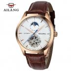 AILANG tourbillon Автоматические Механические часы мужчины Моды Случайные Бизнес часы водонепроницаемые relojes кожаный ремешок наручные часы