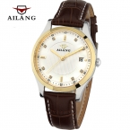 AILANG Мужские Автоматические механические часы мужчины Моды Случайные бизнес Наручные Часы 50 М Водонепроницаемый Кожаный ремешок часы Часы Reloj