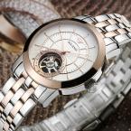 AILANG Tourbillon Автоматические Механические Мужские часы Водонепроницаемые полный стали смотреть Человек Мода Повседневная Бизнес Часы Relojes Hombre