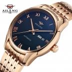 Ailang марка мода деловых людей наручные часы дата полный стали водонепроницаемый автоматические механические мужские часы relogio masculino