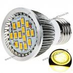 Энергосберегающая светодиодная лампа E27 8W 5630 SMD LED, излучающая тёплый белый свет.(AC 85-260V)