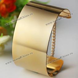 Стильный золотистый браслет на руку из цинкового сплава