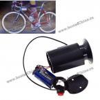 Практичный велосипедный водонепроницаемый и электрический звонок - черный