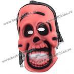 Ужасающая маска с чёрной вуалью на Хэллоуин.(Цвет - красный)