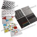 Компактный портативный набор из пяти разновидностей шахмат