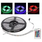 ВОдонепроницаемая супер-яркая светящаяся лента: 5 м, 12V, 300 светодиодов, RGB свет,PCB 5050 SMD